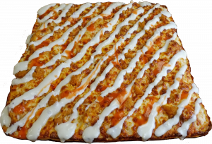 Full Chicken Finger Pizza