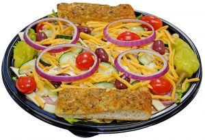 Julienne Salad with Breadsticks